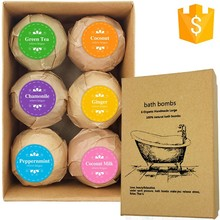 Art Naturals Bad Bommen Holiday Gift Set-6X4.1 Oz Ultra Olie Handgemaakte Spa Bom Fizzies bad spa gift set