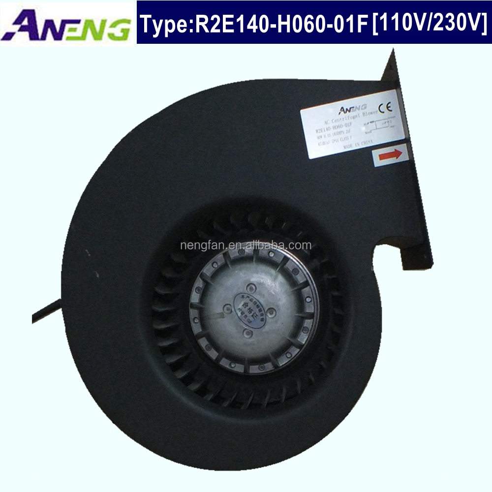 forward curved centrifugal fan with impeller diameter 140mm