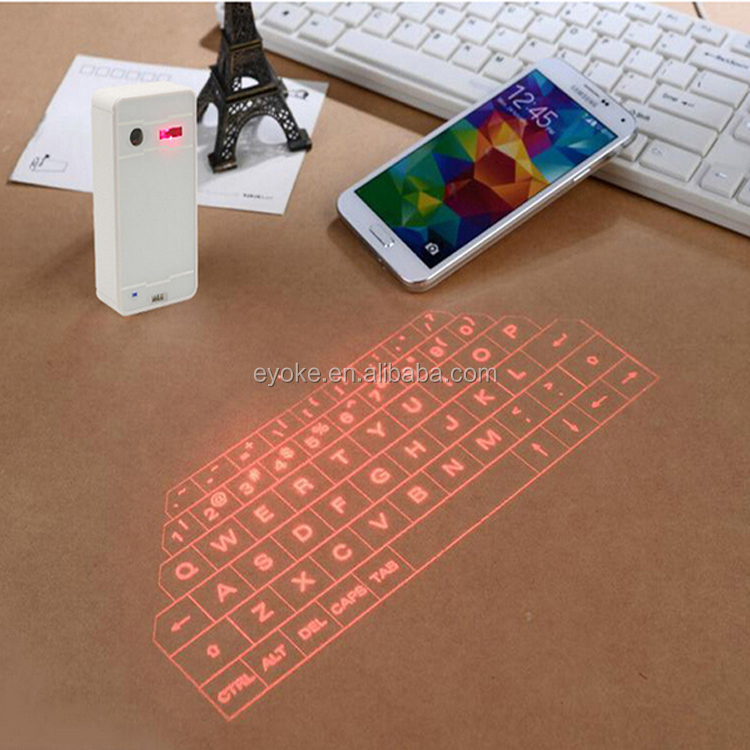 Mini Wireless bluetooth laser projection virtual keyboard for cell phone tablet All in One