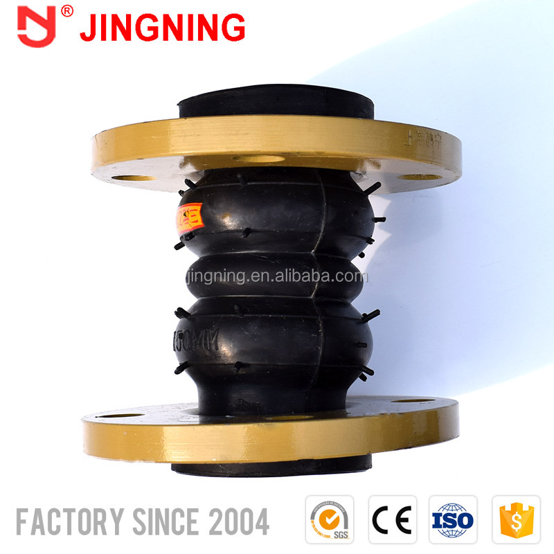 Steel flanged double-sphere epdm molded expansion rubber joints