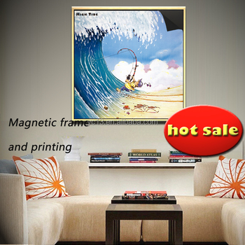 easy updating art ad decor magnetic frame print magnetic paintings crazy fisherman 1013-143