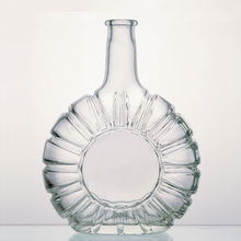 Hot selling clear empty vodka glass bottle made in china