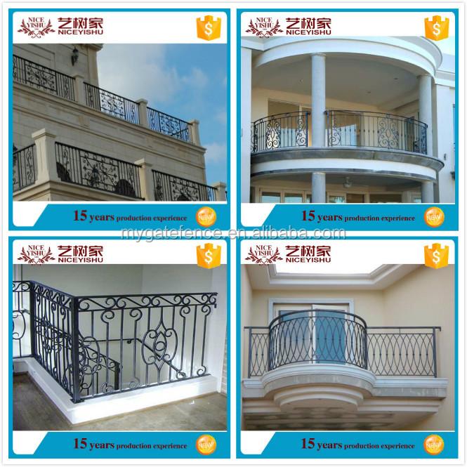 Yishujia factory modern iron grill design for veranda top