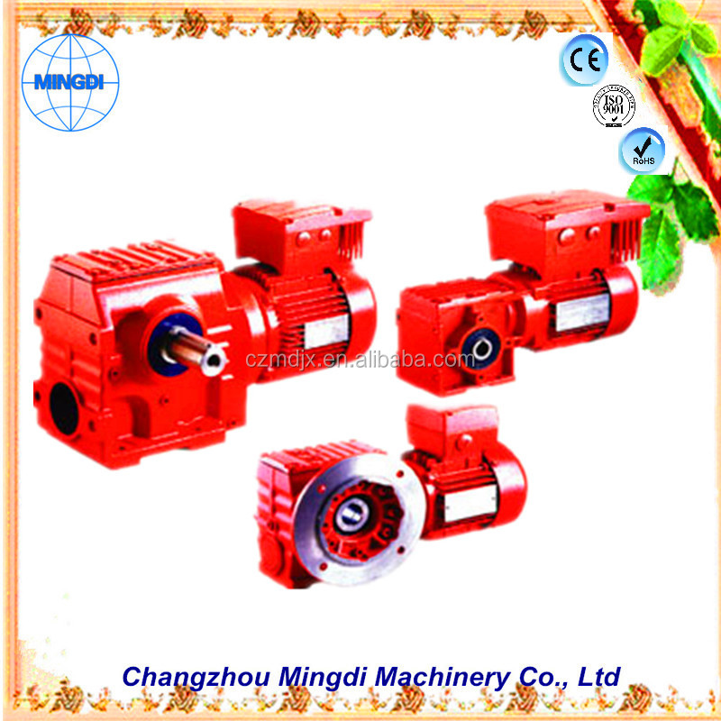 Changzhou gearbox manufacturers S Series Helical-Worm Gear box Transmission Parts Reducer with 24V DC Motor