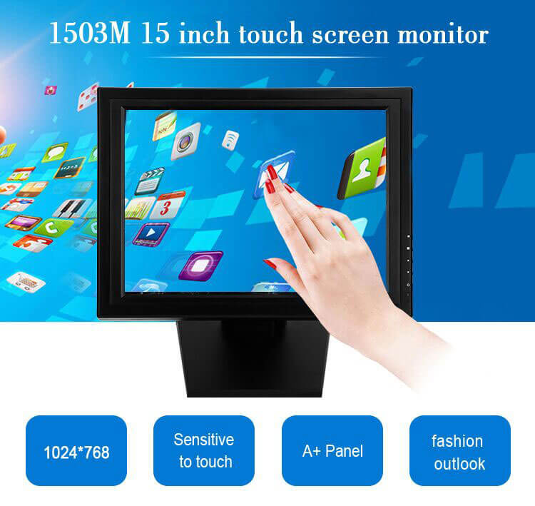High quality 15 inch pos touch screen monitor