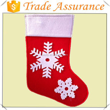 Wholesale Cheap white snow felt christmas stocking