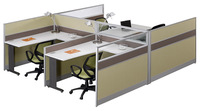 L6+D32 customized latest office desk computer modular 4 person office furniture workstation