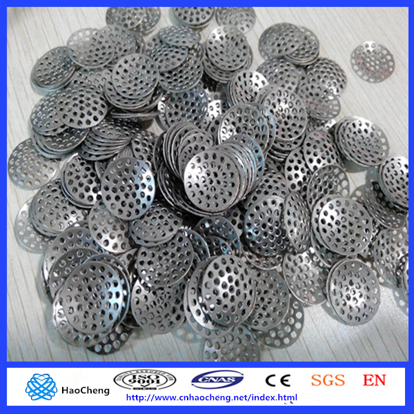 Replacement 15mm stainless steel concave smoking pipe screens/metal filter screens
