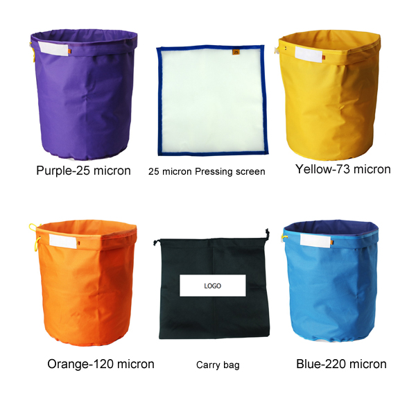 5 gallon 4 sets bubble bag with pressing screen