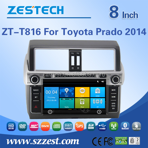 automobile for toyota prado with steering wheel control rear view camera bluetooth 3G radio