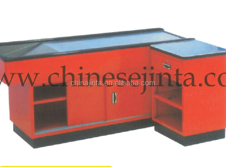 Wholesale newest cheap small wood checkout counter new items in china market