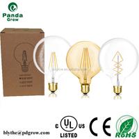 Super high brightness Color temperature 2700K-6500K UL G80 4W 6W 8W vintage led light bulb led filament lamp