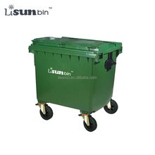 Plastic Outdoor color coded garbage bins 1100L