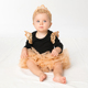 High quality newborn baby clothes fly sleeved rompers + tutu skirts baby bodysuits wholesale