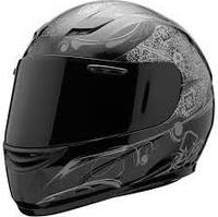 SparX S-07 Full-Face Motorcycle Helmet - Crank Silver TR