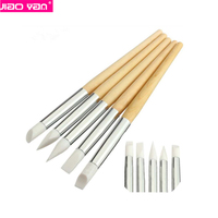 wooden silicone nail brush silicone sculpture nail pen #4380