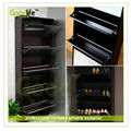 Goodlife Black color MDF shoe rack designs wood shoe cabinet with mirror from foshan