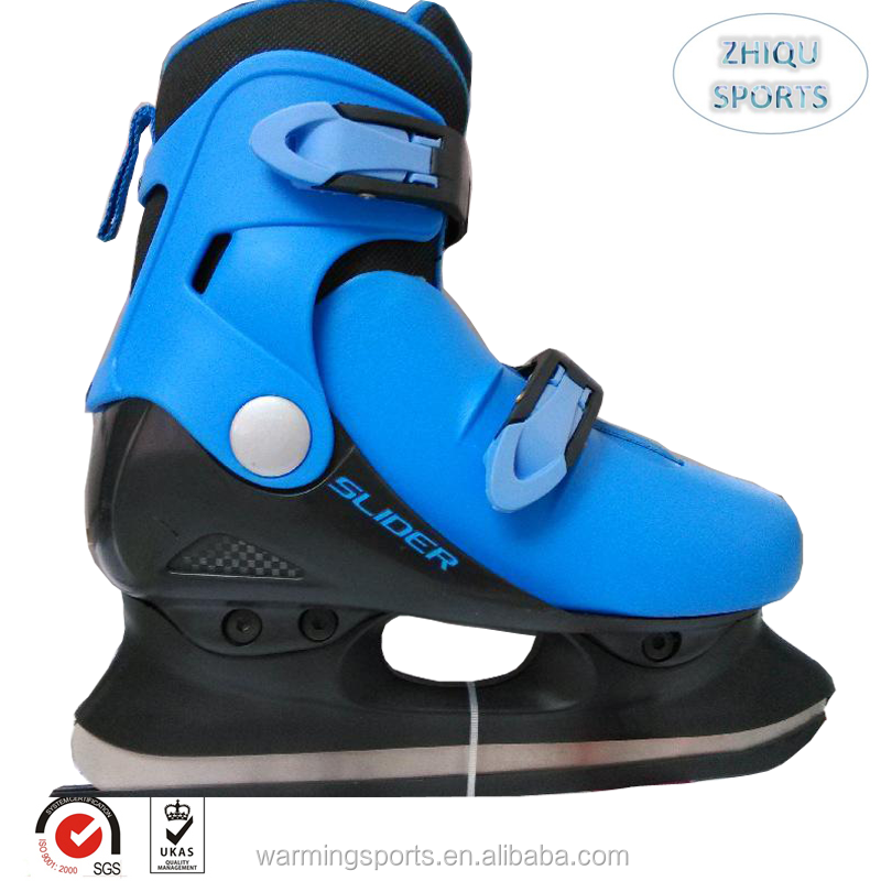 Hot sale Upscale skates shoes Adjustable size hard PP material ice skating shoes for Adults, Teenagers and kids