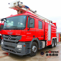 China 6x4 drive 32m rated working height aerial platform fire truck for sale