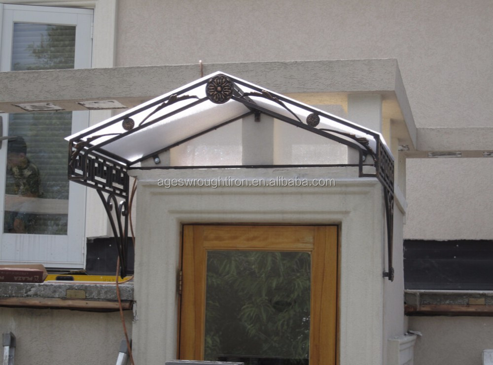 Best quality iron canopy wrought iron canopies awning