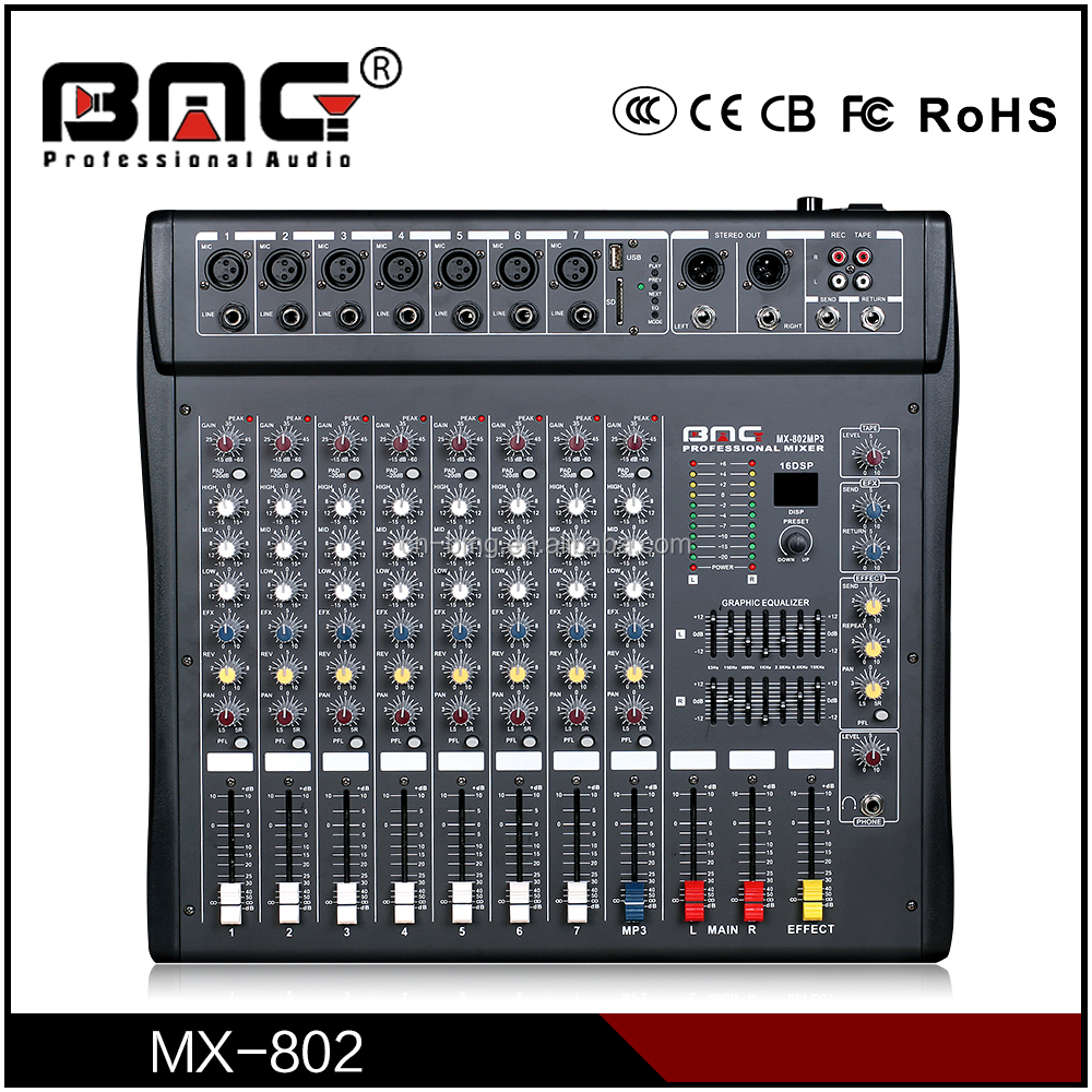 BMG Designed Professional 12v Mixers and Sound Mixing Table in Style Digital Behringer Console