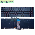 90.NC8BQ.701 US Laptop Keyboard for HP 15-AB English language notebook Keyboard Black backlit with red words