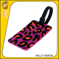 colorful promotion travelling customized pvc luggage tag for coca cola