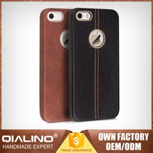 QIALINO Extra Thin Super Quality Color Change Back Cover For Iphone 5C Top Head Leather