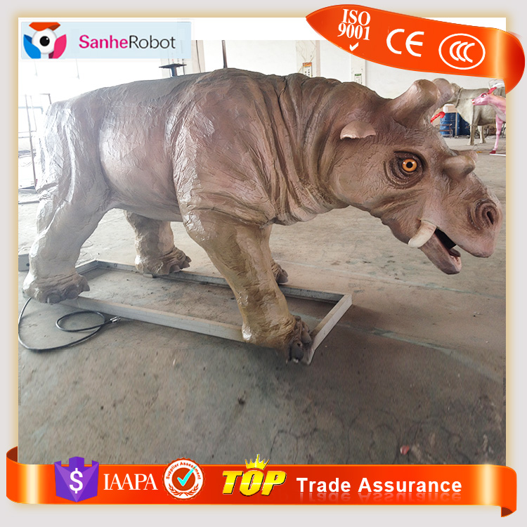 White Rhinos Ceratotherium simum ride L=3.5m Morden home decorative ornaments imitation cooper white rhino carving