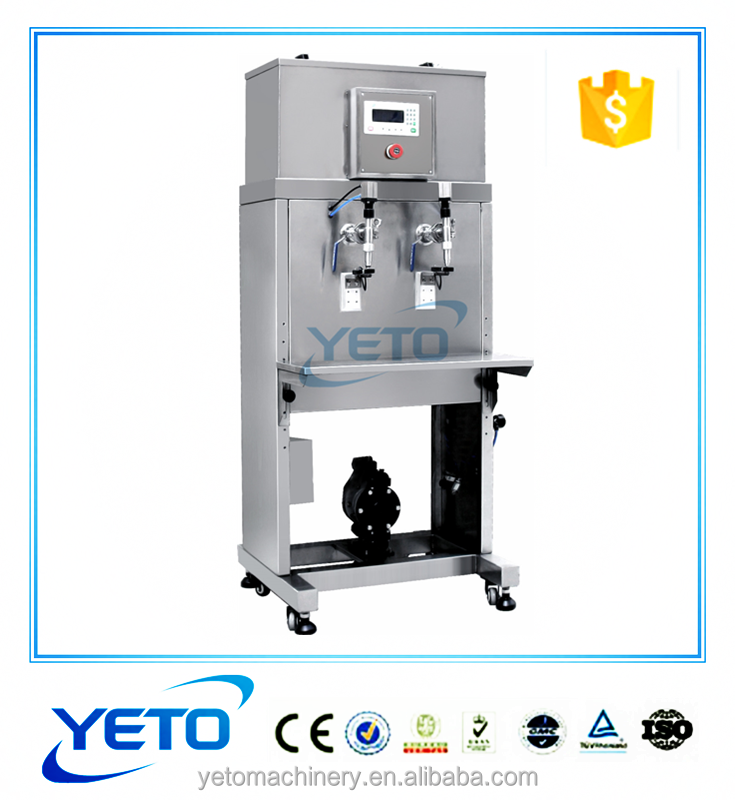 semi automatic double heads Corrosive liquids Bleach, toilet cleaner filling machine for sale