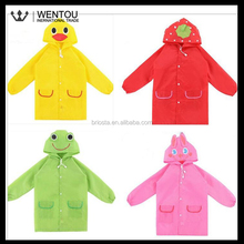Wholesale 100% Waterproof Cute Hooded Kids Raincoat