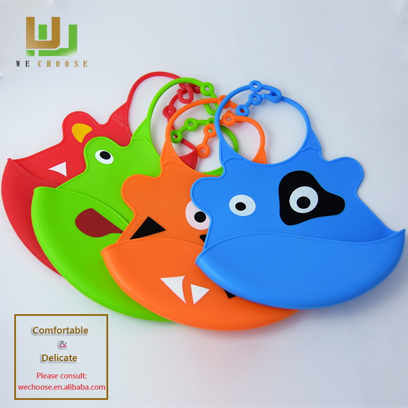 Special useful rubber silicone baby bibs