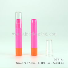 Wholesale plastic cosmetic packaging empty lipstick pencil tube