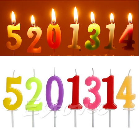 1pc Cake Numbers Age Candle Kids Baby Birthday Anniversary Party Supplies Decoration