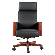 The best luxury solid wood material boss massager leather office chair in office furniture