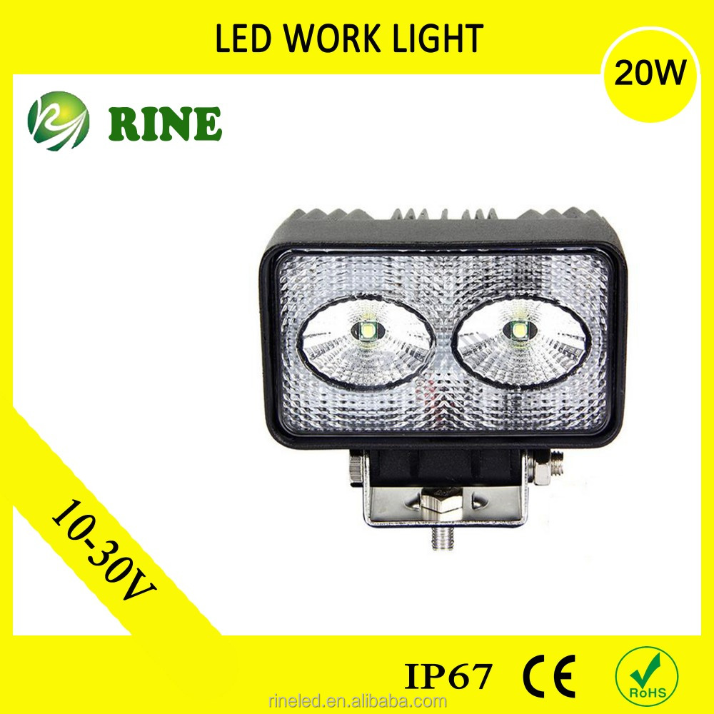 Jeep Wrangler Waterproof 20W Led Work Light Led Off Road Lamp Factory Price