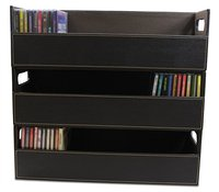 Stacking CD Holder and Media Storage Box For CD Shelf Storage and Organization, Holds 40 CDs
