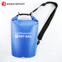 2016 newest designed waterproof dry bag for iphone 6, purse, key, clothes, credit cards or other items, 10L -Blue
