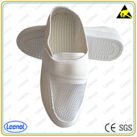 LN-7106 ESD mesh leather shoes anti static safety shoes in cleanroom
