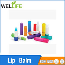 factory wholesales promotion fruity ball shape organic lip balm with spf 15