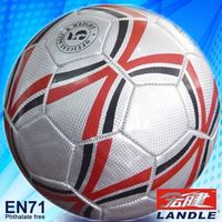 Leather Stitched official size and weight soccer ball football