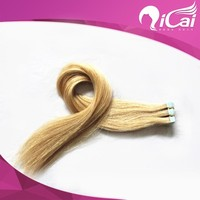 613# 40Pcs Light Blonde Tape Hair Extensions Adhesive Glue in Brazilian Hair Skin Weft Hair