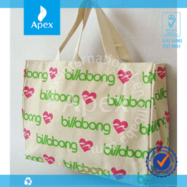 Big customed printed canvas shopper bag