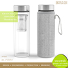 Cheap Fancy Pyrex Handmade Wholesale Glass Water Filter Bottle Infuse