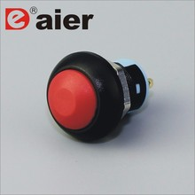 12mm Dome Latching Push Button Micro <strong>Switch</strong> Waterproof 120v