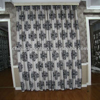 Wholesale ready made thick cotton fancy window curtain