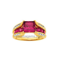 Handmade Diamond Ruby gemstone 18karat gold Gemstone Studded ring jewelry manufacturer in india jaipur