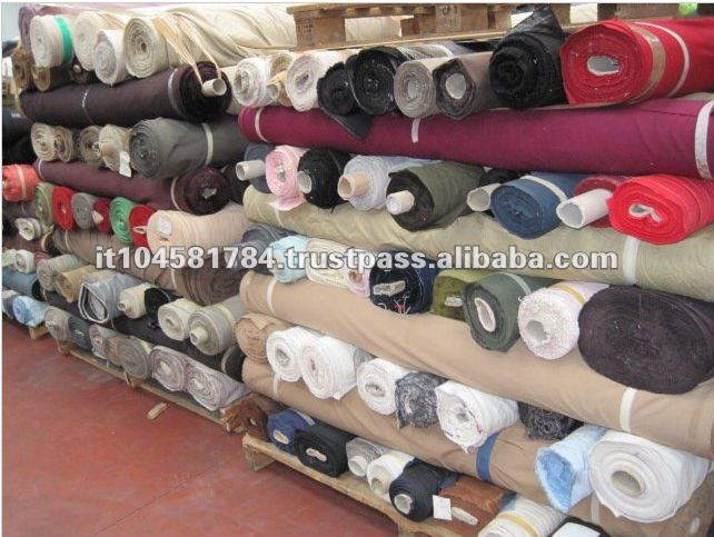 Italy High Quality Textile Fabrics Stock