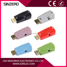 good quality mini 15 pin HDMI to VGA adapter with audio for ps2