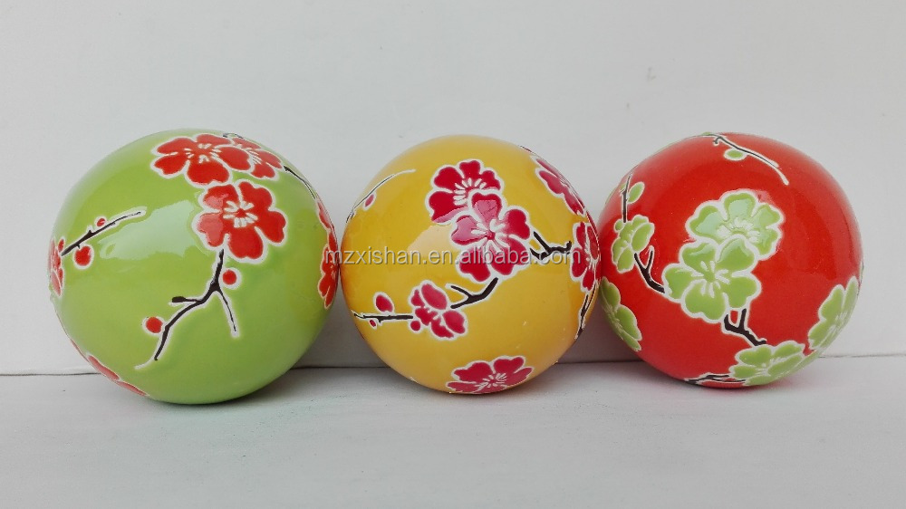 wholesale handpainted ceramic home decor vintage ball